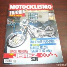 Coches y Motocicletas: REVISTA MOTOCICLISMO - AÑO 1991 - Nº 1211- SALON BARCELONA-ESPECIAL GP JEREZ 91 VER DETALLES. Lote 165750102