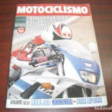 Coches y Motocicletas: REVISTA MOTOCICLISMO -AÑO 1991 - Nº 1201- CROSS ESPLUGAS- YAMAHA FZR 1000 -VER DETALLES. Lote 165751726