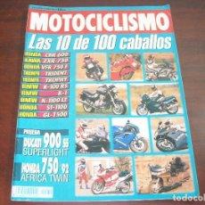 Coches y Motocicletas: REVISTA MOTOCICLISMO -AÑO 1992 - Nº 1270- 10 DE 100 CABALLOS HONDA-KAWA-TRIUMPH-BMW -VER DETALLES. Lote 165754738