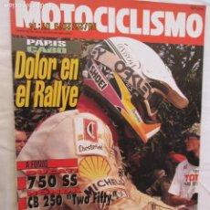 Coches y Motocicletas: MOTOCICLISMO REVISTA Nº 1247 ENERO 1992 - DOLOR EN EL RALLYE, DUCATI 750 SS.... Lote 166444262