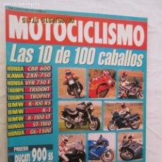 Coches y Motocicletas: MOTOCICLISMO REVISTA Nº 1270 JUNIO 1992 - LAS 10 DE 100 CABALLOS.... Lote 166448370
