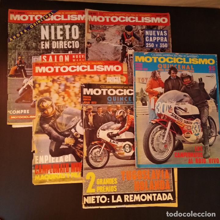 MOTOCICLISMO - 5 REVISTAS - 1972 - CON PÓSTERS - CAMPEONATOS - QUINCENALES - RARAS (Coches y Motocicletas - Revistas de Motos y Motocicletas)