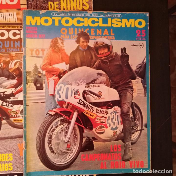 Coches y Motocicletas: Motociclismo - 5 Revistas - 1972 - Con pósters - Campeonatos - Quincenales - Raras - Foto 3 - 166452674