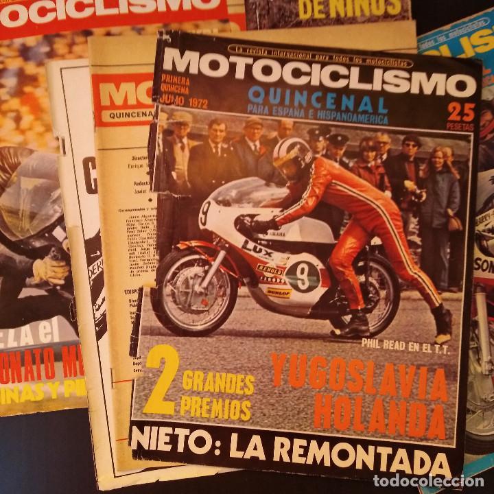 Coches y Motocicletas: Motociclismo - 5 Revistas - 1972 - Con pósters - Campeonatos - Quincenales - Raras - Foto 5 - 166452674