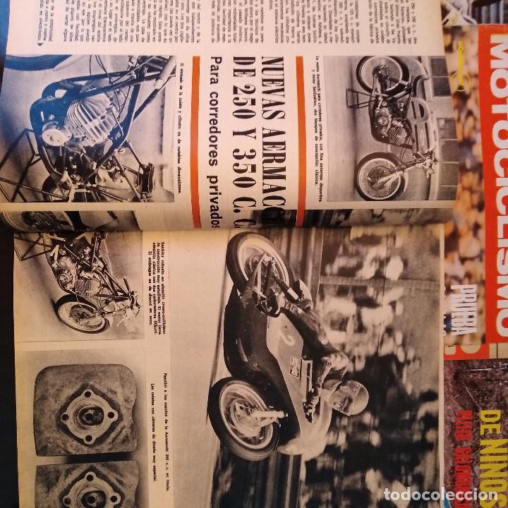 Coches y Motocicletas: Motociclismo - 5 Revistas - 1972 - Con pósters - Campeonatos - Quincenales - Raras - Foto 6 - 166452674