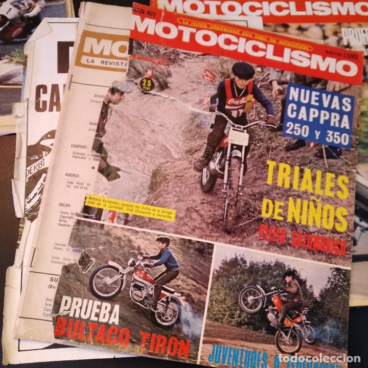 Coches y Motocicletas: Motociclismo - 5 Revistas - 1972 - Con pósters - Campeonatos - Quincenales - Raras - Foto 12 - 166452674