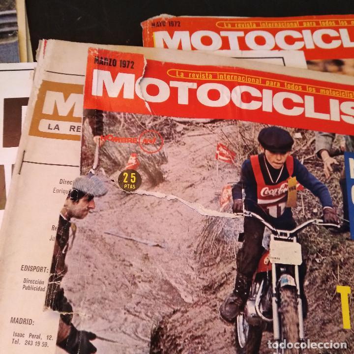 Coches y Motocicletas: Motociclismo - 5 Revistas - 1972 - Con pósters - Campeonatos - Quincenales - Raras - Foto 13 - 166452674