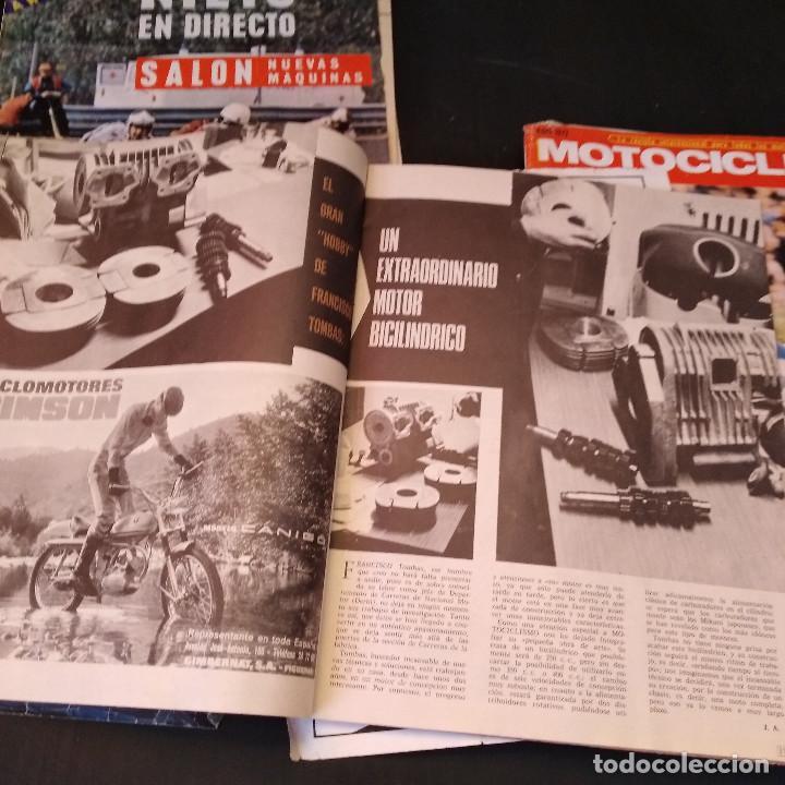 Coches y Motocicletas: Motociclismo - 5 Revistas - 1972 - Con pósters - Campeonatos - Quincenales - Raras - Foto 14 - 166452674