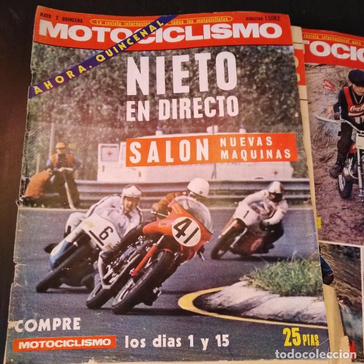 Coches y Motocicletas: Motociclismo - 5 Revistas - 1972 - Con pósters - Campeonatos - Quincenales - Raras - Foto 15 - 166452674