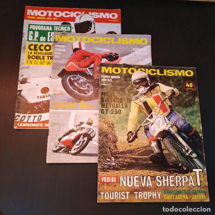 MOTOCICLISMO - 3 REVISTAS - 1975 - QUINCENALES - REVISTA - JARAMA GRAN PREMIO - BULTACO (Coches y Motocicletas - Revistas de Motos y Motocicletas)