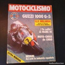 Coches y Motocicletas: MOTOCICLISMO 1981 - GUZZI 1000 G-5 - POSTER ERIC GEBOERS - G.P. HOLANDA - REVISTA MOTOS. Lote 166456818