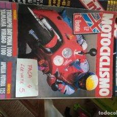 Coches y Motocicletas: REVISTA MOTOCICLISMO 1224 * TRIUMPH DAYTONA 1000 + YAMAHA VIRAGO 1100 + APRILIA FUTURA 125 * 66. Lote 166526786