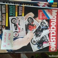 Coches y Motocicletas: REVISTA MOTOCICLISMO 1219 * MOTOVESPA SFERA + YAMAHA SUPERTENERE + GPZ 550 + KLE * 66. Lote 166526822
