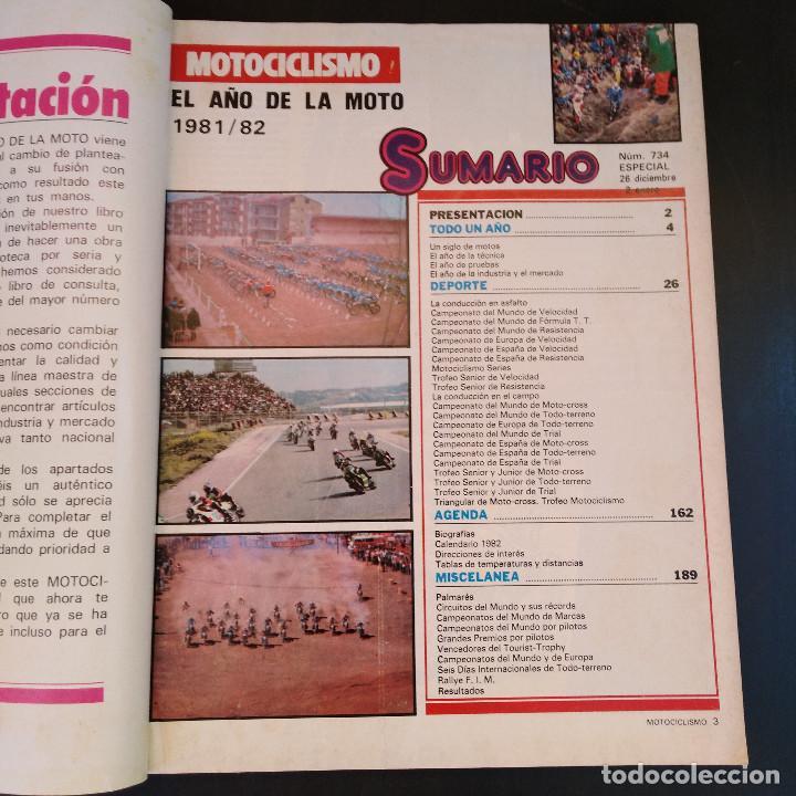 Coches y Motocicletas: Motociclismo Número 734 Especial - Guía 1982 - El Año de la Moto - Raro - Foto 4 - 166846622