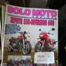 Coches y Motocicletas: REVISTA SOLO MOTO 30 109 * ZEPHYR 550-DIVERSION 600 + LAS 5 TRIAL DE AGUA * 67. Lote 167027120