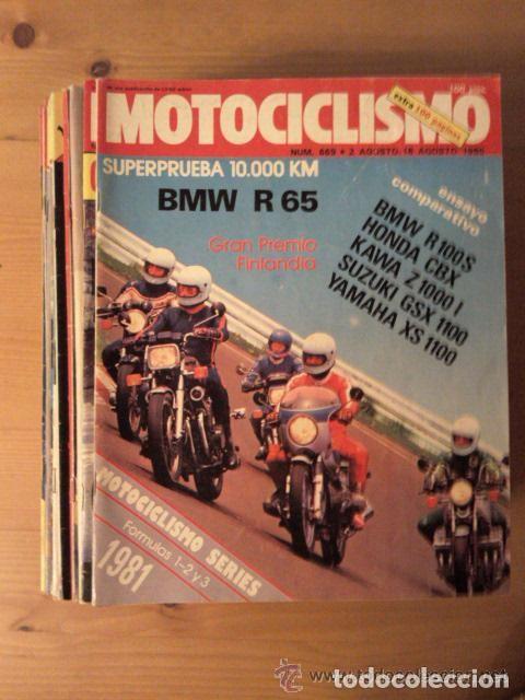 REVISTA MOTOCICLISMO, AÑOS 80 Y 90, VER NUMEROS (Coches y Motocicletas - Revistas de Motos y Motocicletas)