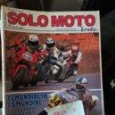 Coches y Motocicletas: REVISTA SOLO MOTO 30 63 * KAWASAKI GPX + HONDA CBR + SUZUKI GSX * 67. Lote 168063304