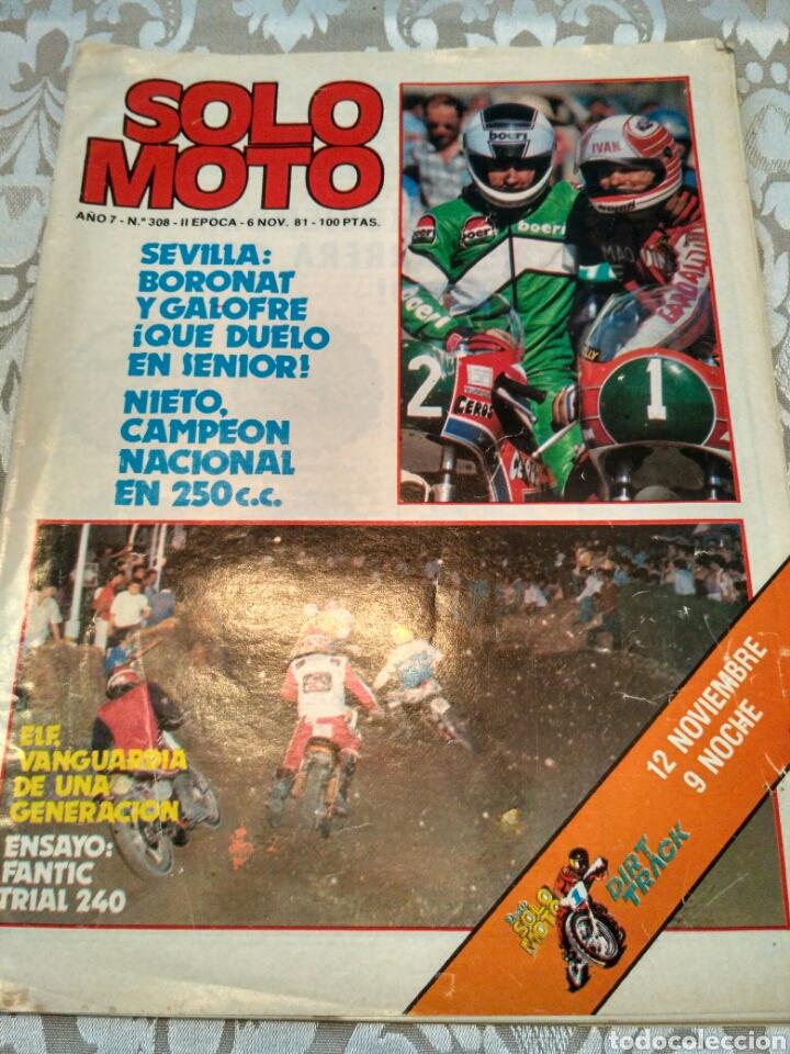 REVISTA SOLO MOTO N° 308 1981 (Coches y Motocicletas - Revistas de Motos y Motocicletas)
