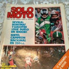 Coches y Motocicletas: REVISTA SOLO MOTO N° 308 1981. Lote 168476733