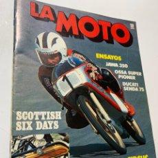 Coches y Motocicletas: REVISTA LA MOTO Nº 21 DE 1976 OSSA SUPER PIONER JAWA 350 DUCATI SENDA 75. Lote 183764382