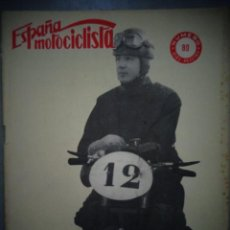Coches y Motocicletas: REVISTA ESPAÑA MOTOCICLISTA NUMERO 89 DICIEMBRE 1958. Lote 168590960