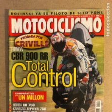 Coches y Motocicletas: MOTOCICLISMO N°1556 (DICIEMBRE, 1997). HONDA CBR 900 RR PROBADA POR ÀLEX CRIVILLÉ,.... Lote 168645590