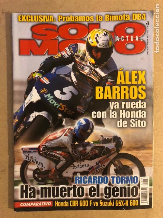 SOLO MOTO ACTUAL N°1178 (1999). ÀLEX BARROS, MUERTE RICARDO TORMO, HONDA CNR 600 F VS SUZUKI GSX-R (Coches y Motocicletas - Revistas de Motos y Motocicletas)