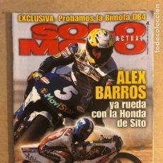 Coches y Motocicletas: SOLO MOTO ACTUAL N°1178 (1999). ÀLEX BARROS, MUERTE RICARDO TORMO, HONDA CNR 600 F VS SUZUKI GSX-R. Lote 194307795