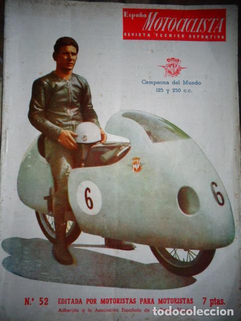 REVISTA ESPAÑA MOTOCICLISTA NUMERO 52 FEBRERO 1956 (Coches y Motocicletas - Revistas de Motos y Motocicletas)
