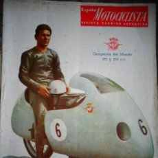 Coches y Motocicletas: REVISTA ESPAÑA MOTOCICLISTA NUMERO 52 FEBRERO 1956. Lote 168798992