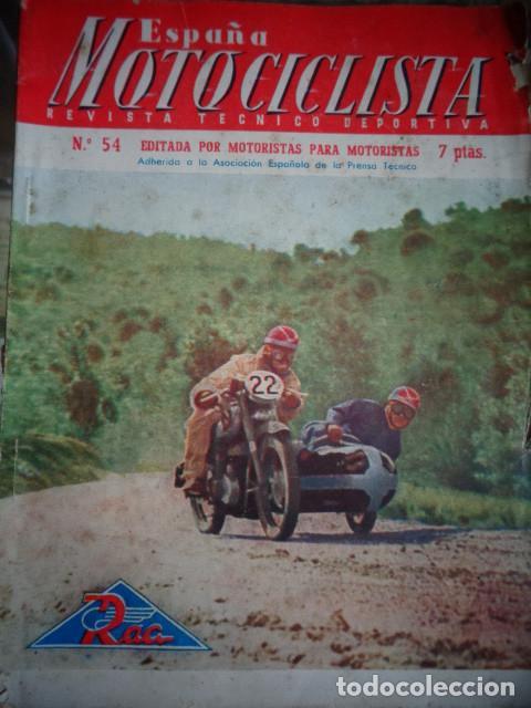 REVISTA ESPAÑA MOTOCICLISTA NUMERO 54 ABRIL 1956 (Coches y Motocicletas - Revistas de Motos y Motocicletas)