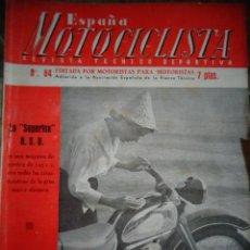 Coches y Motocicletas: REVISTA ESPAÑA MOTOCICLISTA NUMERO 64 FEBRERO 1957. Lote 168806196