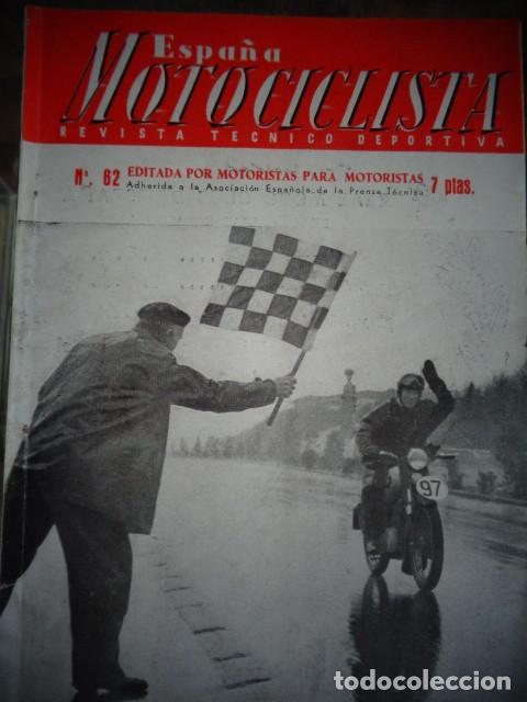REVISTA ESPAÑA MOTOCICLISTA NUMERO 62 DICIEMBRE 1956 (Coches y Motocicletas - Revistas de Motos y Motocicletas)