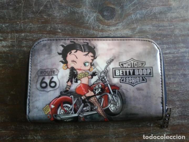 MONEDERO BETTY BOOP ROUTE 66. RUTA 66. 16 X 9 CM (Coches y Motocicletas - Revistas de Motos y Motocicletas)