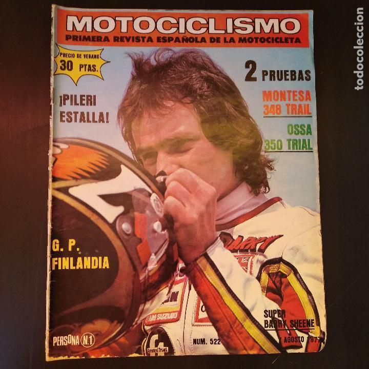 MOTOCICLISMO - 7 AGOSTO 1977 - Nº 522 - PILERI ESTALLA - TAMAÑO EXTRA - RARO (Coches y Motocicletas - Revistas de Motos y Motocicletas)
