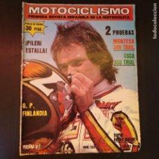 Coches y Motocicletas: MOTOCICLISMO - 7 AGOSTO 1977 - Nº 522 - PILERI ESTALLA - TAMAÑO EXTRA - RARO. Lote 168994796