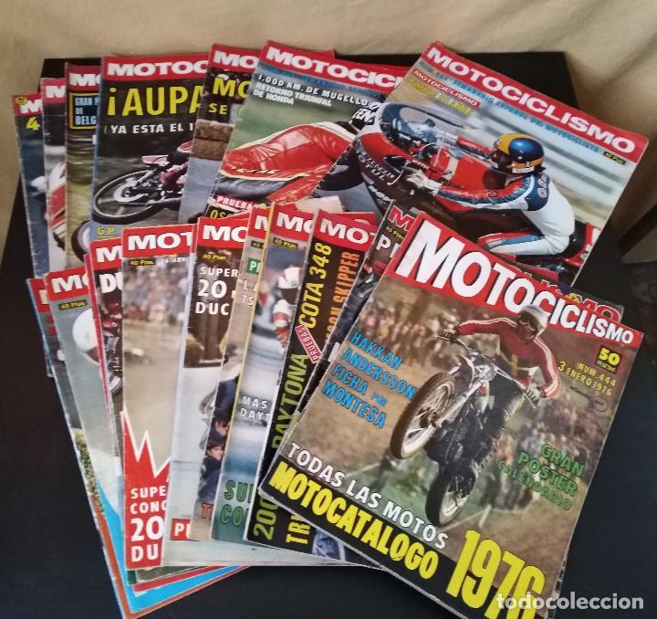 LOTE 20 REVISTAS MOTOCICLISMO 1976 Nº444 - 482 - MUY RARAS - NIETO - MOTOS (Coches y Motocicletas - Revistas de Motos y Motocicletas)