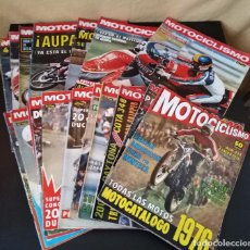 Coches y Motocicletas: LOTE 20 REVISTAS MOTOCICLISMO 1976 Nº444 - 482 - MUY RARAS - NIETO - MOTOS. Lote 169059700