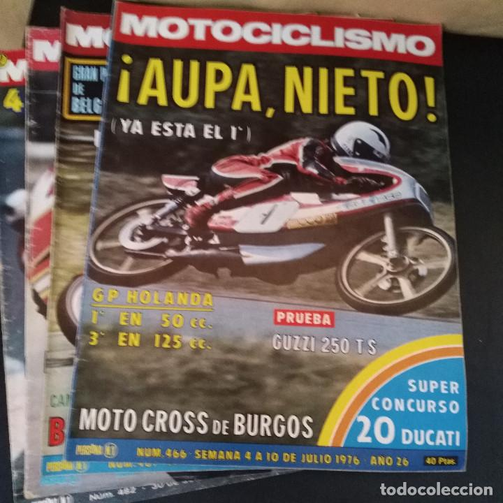 Coches y Motocicletas: Lote 20 Revistas Motociclismo 1976 Nº444 - 482 - Muy Raras - Nieto - Motos - Foto 2 - 169059700