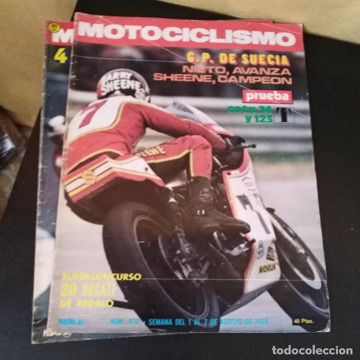 Coches y Motocicletas: Lote 20 Revistas Motociclismo 1976 Nº444 - 482 - Muy Raras - Nieto - Motos - Foto 4 - 169059700