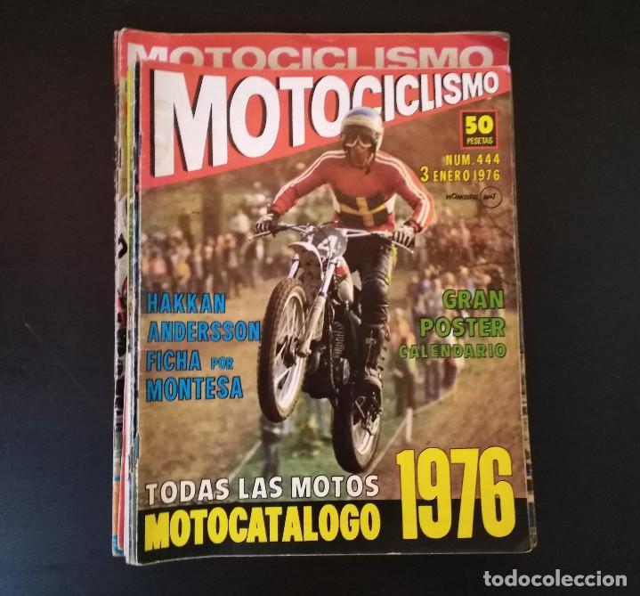 Coches y Motocicletas: Lote 20 Revistas Motociclismo 1976 Nº444 - 482 - Muy Raras - Nieto - Motos - Foto 6 - 169059700