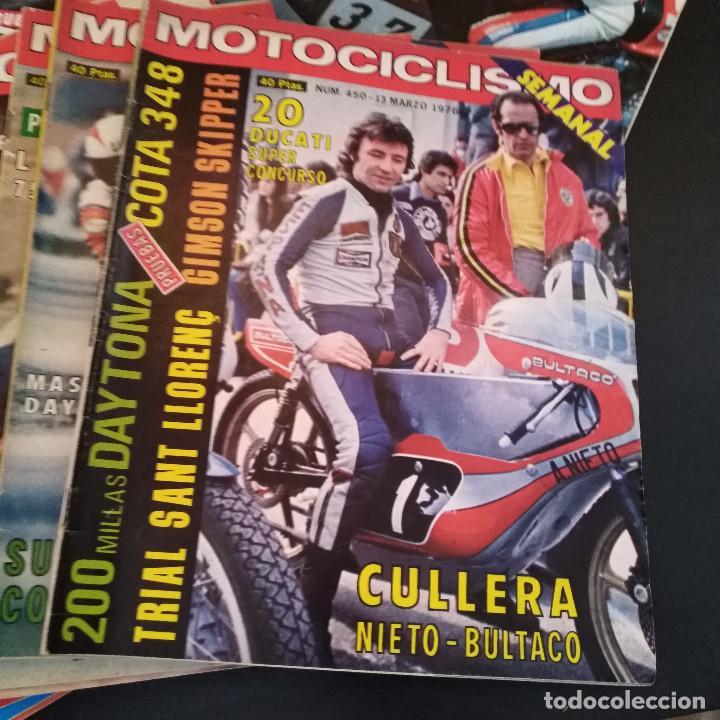 Coches y Motocicletas: Lote 20 Revistas Motociclismo 1976 Nº444 - 482 - Muy Raras - Nieto - Motos - Foto 12 - 169059700