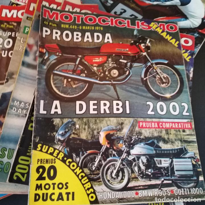 Coches y Motocicletas: Lote 20 Revistas Motociclismo 1976 Nº444 - 482 - Muy Raras - Nieto - Motos - Foto 13 - 169059700