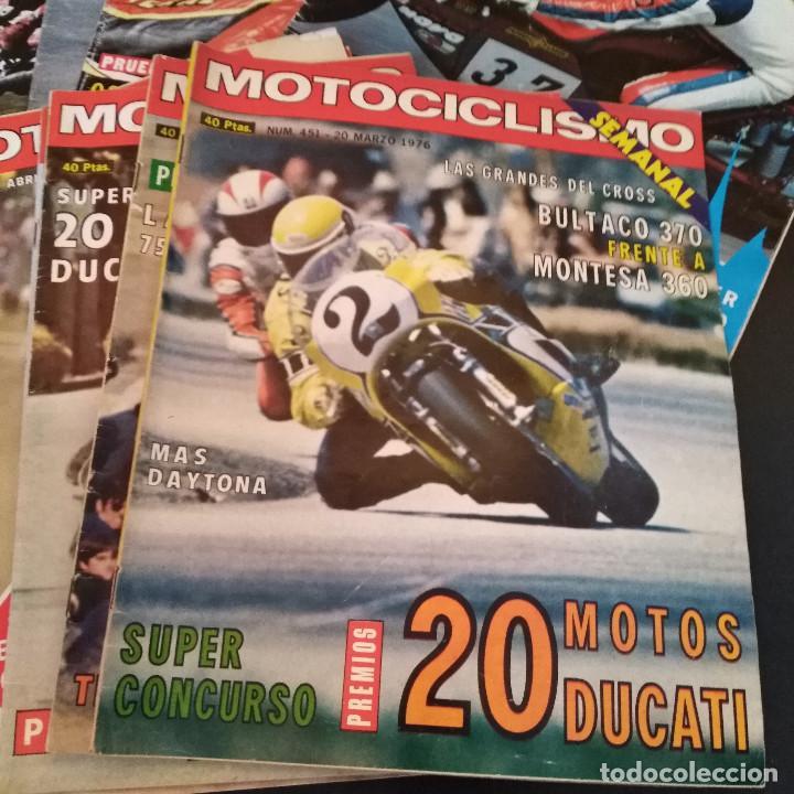 Coches y Motocicletas: Lote 20 Revistas Motociclismo 1976 Nº444 - 482 - Muy Raras - Nieto - Motos - Foto 14 - 169059700