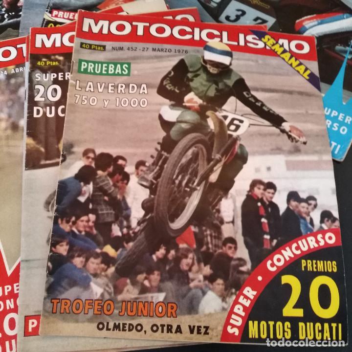 Coches y Motocicletas: Lote 20 Revistas Motociclismo 1976 Nº444 - 482 - Muy Raras - Nieto - Motos - Foto 15 - 169059700