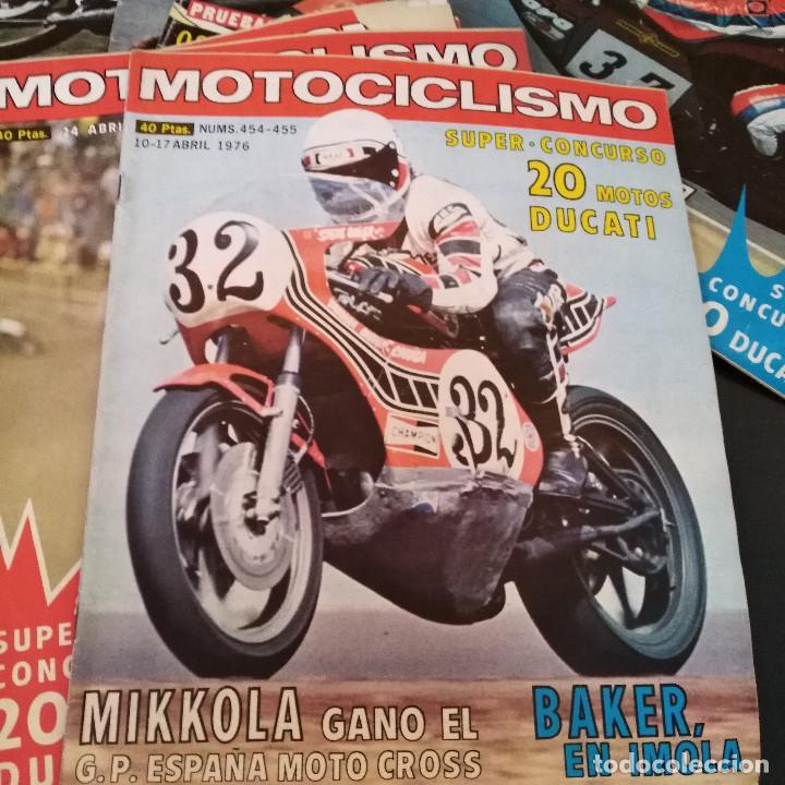 Coches y Motocicletas: Lote 20 Revistas Motociclismo 1976 Nº444 - 482 - Muy Raras - Nieto - Motos - Foto 17 - 169059700