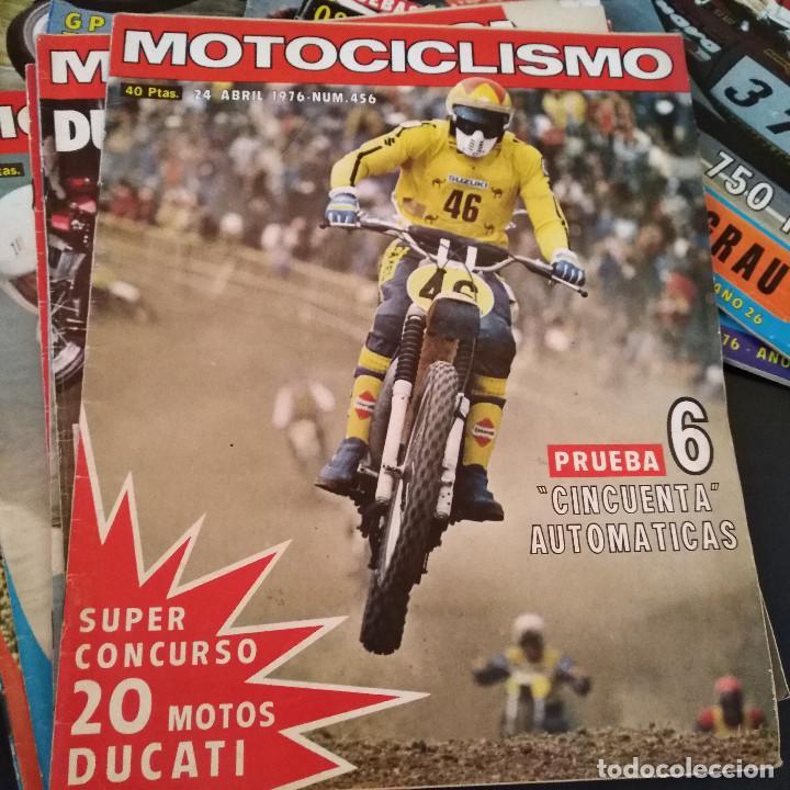 Coches y Motocicletas: Lote 20 Revistas Motociclismo 1976 Nº444 - 482 - Muy Raras - Nieto - Motos - Foto 18 - 169059700