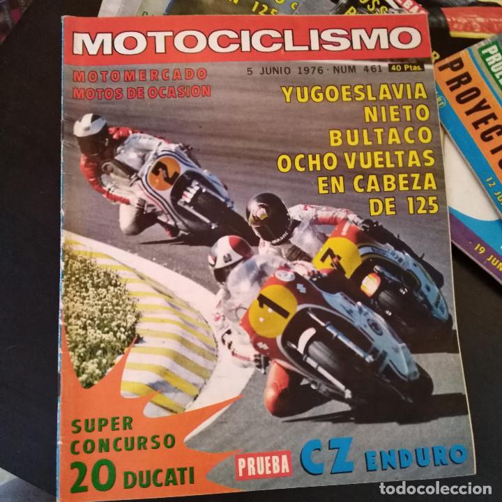 Coches y Motocicletas: Lote 20 Revistas Motociclismo 1976 Nº444 - 482 - Muy Raras - Nieto - Motos - Foto 23 - 169059700