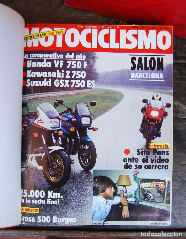 Coches y Motocicletas: LOTE DE 32 REVISTAS MOTOCICLISMO ENCUADERNADAS EN 2 VOLUMES AÑO 1983 - Foto 4 - 169358200