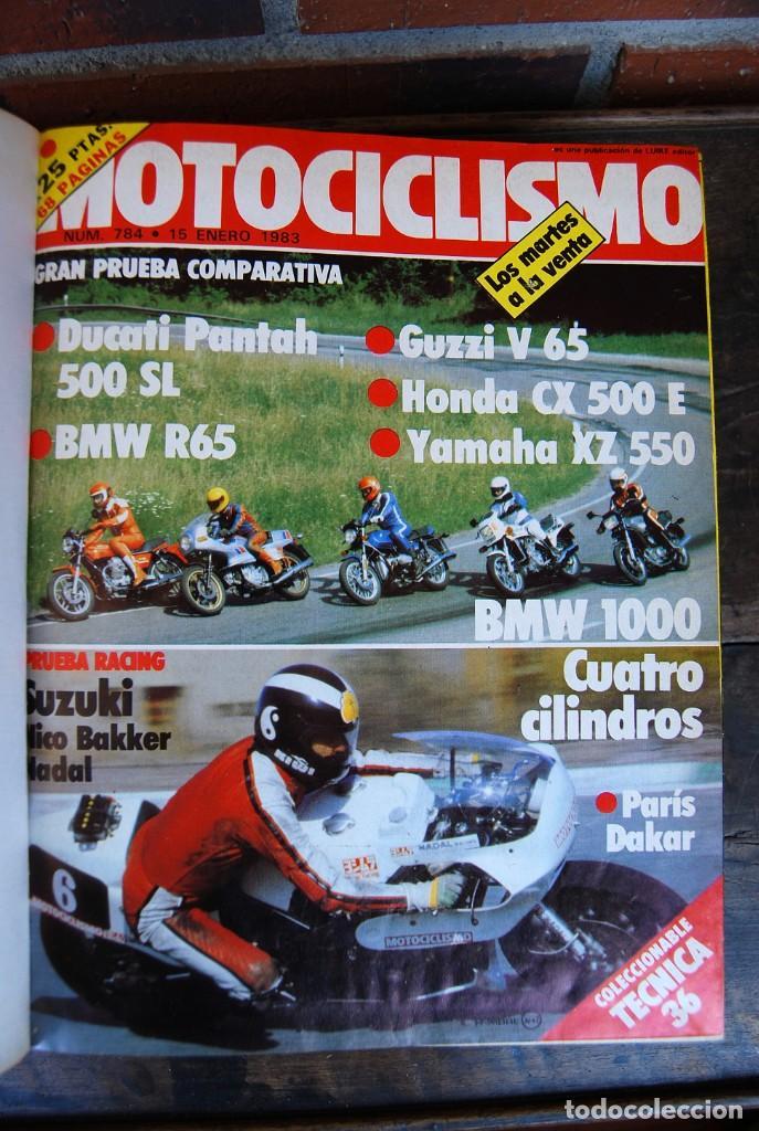 Coches y Motocicletas: LOTE DE 32 REVISTAS MOTOCICLISMO ENCUADERNADAS EN 2 VOLUMES AÑO 1983 - Foto 5 - 169358200